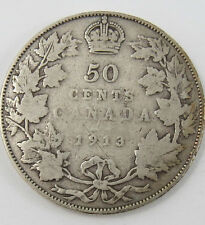P-24 CANADA 1913 50 CENTS KING GEORGE V SEE PICTURES