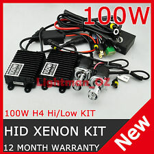 100W AC HID XENON DIGITAL BIXENON CONVERSION KIT H4 Hi/Lo 9003 HB2 Bi-xenon