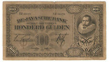 Old Collection Java Banknote1927 pre-indo100 Gulden-华文有用在则-4 languages printed.