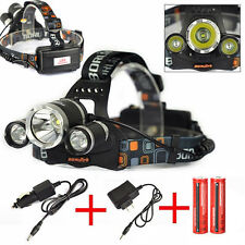 BORUIT 12000 Lumen 3xXML T6 LED Rechargeable Headlamp Headlight Head Torch Light
