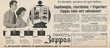 W1769 Frigorifero ZOPPAS - Pubblicità del 1958 - Vintage advertising