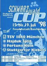 15.-19.07.1998 Hajduk Split, TSV 1860 München, Fortuna Köln, Stuttgarter Kickers