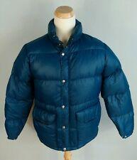 Vintage mens 1970's The North Face ~ Brown Label Goose Down Ski Jacket ~ Navy S