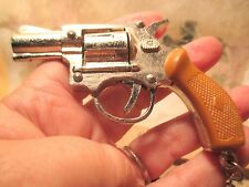 Vintage Old Store Inventory Realistic PISTOL HANDGUN VICTOR Key Ring MAKE OFFER