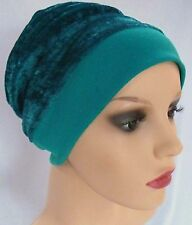 Cotton Lined, double layered Beanie - Slouch Hat. Suitable for chemo hairloss. P