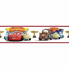 McQueen & Friends Piston Cup Champion Peel & Stick Wallpaper Border RMK1517BCS
