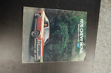1978 Chevy Nova Chevrolet Specials Sales Literature Book