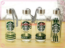 2016Large 300ML New Starbucks Water Bottle Glass Coffee Mug Outdoor Drinking Cup