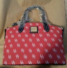 DOONEY & BOURKE RED WHITE & NAVY BLUE RUBY SATCHEL 40TH SPECIAL EDITION