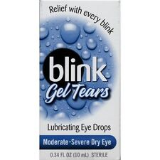Blink Gel Tears Lubricating Eye Drops Moderate-Severe Dry Eye 10 ML