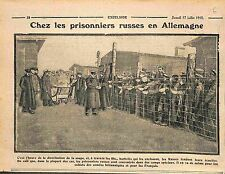 Germany Prisoners Soldiers Imperial Russia Army Camps Allemagne WWI 1915