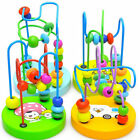 1pc Baby Kids Children Colorful Wooden Around Beads Educational Game Toy Mini