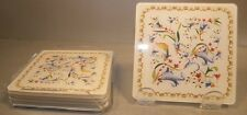 NEW  Set of 6 Glass Coaster, Toscana Pattern From GIEN