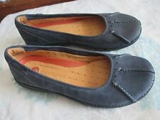 UNSTRUCTURED BY CLARKS UN. PUMP WOMEN'S LEATHER SLIP ON FLAT LOAFER SZ 7.5
