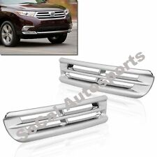 FOR TOYOTA HIGHLANDER 2011-2013 CHROME FRONT LOWER FOG LIGHT COVER L+R TRIM