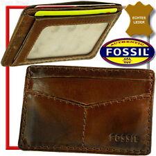 FOSSIL EC Karten Etui,Mäppchen,Leder,Hülle,Lederetui,Visa,Kreditkarten,Mappe,NEU
