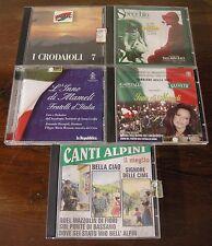 STOCK 4 CD MUSICA DEGLI ALPINI e INNO D ITALIA - !!!!