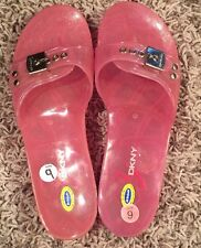 Dr. Scholl's & DKNY JENNY Clear Pink Slide Exercise Sandal SZ 9 Dr Scholls DKNY