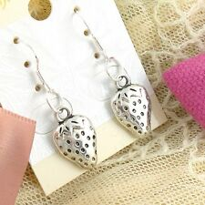 Lady 4 Pair/lot Charm Fashion Jewelry 925 Silver Strawberry Stud Earring