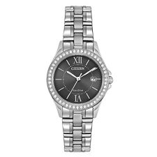 Citizen Eco-Drive Women's EW1840-51H Silhoutte Crystal Accent Bezel Watch