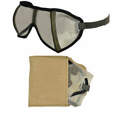 Original WW2 German Army DUST PROTECTION GOGGLES with CASE - DAK Desert Glasses