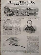 L'ILLUSTRATION 1845 N 129 L' INCENDIE DANS LA SCIERIE DE L' ARSENAL DU MOURILLON