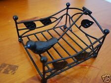 Handmade French Style Iron Paper Napkin Holder 14cm Black