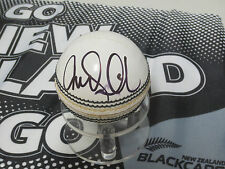 Tim Southee (New Zealand) signed white cricket ball & COA + photo proof
