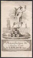 Parfumerie. Maison Lefloch Ainé. Manufacture de savons verts. Vers 1800