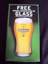 OFFICIAL HEINEKEN TEAM GB ATHENS 2004 OLYMPICS  PINT GLASS BOXED SPECIAL ED