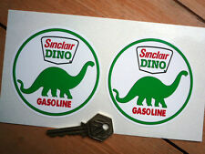 "SINCLAIR DINO GASOLINE Racing Car Stickers 3.5"" Pr USA NASCAR INDY Gas Fuel Race"