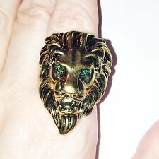 Vintage  retro style bronze lion charm ring Tyrion Lannister Game Thrones Size U