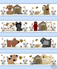 Puppy Dog Wallpaper Border Wall Decal Boy Girl Cute Puppies Animal Sticker Decor