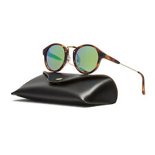 RETROSUPERFUTURE Super Panama Cove II Sunglasses X2W Havana Brown Green Mirrored