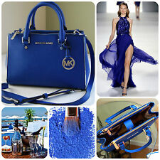 �� Wow baby! �� 100% Michael Kors Cobalt Blue BNWT SUTTON Saffiano Leather Bag