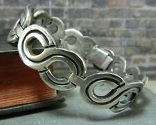Vintage J. Flores Taxco Mexico Sterling Silver Infinity Bracelet