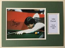 """Snooker John Parrott Signed 16"""" X 12"""" Double Mounted Display"""