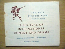 .1940s Arts Theatre Club Programme: A FESTIVAL OF INTERNATIONAL COMEDY AND DRAMA