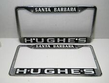 Pair Santa Barbara California Hughes License Plate Frame Vintage Car Truck