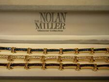 RARE SIGNED NOLAN MILLER GOLD EP ULTIMATE CHANNEL RHINESTONE BRACELET SET NIB