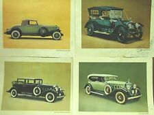 SET OF 4 CADILLAC PICTURES FROM EARLY 1900'S