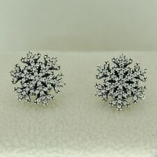 Authentic Pandora 290589CZ Snowflake Clear CZ Studs Earrings Sterling Silver