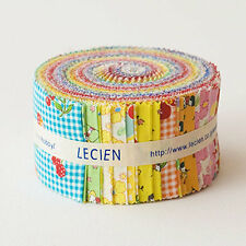 Retro 30's Child Smile  Sushi Roll Pre cut Jelly Quilt Fabric Strips by Lecien