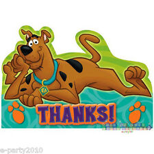 (8) SCOOBY-DOO WHERE ARE YOU! THANK YOU CARDS ~ Birthday Party Supplies Notes