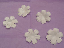10 petals Ivory Fabric flower petals bridal wedding hair accessory diy petals