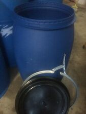 33 GALLON PLASTIC BARREL LID & RING FOOD GRADE TIGHT SEAL PREPPER FERMENTING