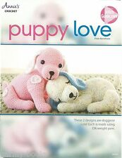 Puppy Love Crochet Instruction Patterns Toy Fran Goreham Annie's Attic 2015 NEW