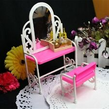 Mini Dollhouse Furniture bedRoom Set Dressing Table Chair for Barbie Doll