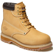 MENS DICKIES CLEVELAND SAFETY WORK BOOTS SIZE UK 11 EU45 HONEY STEEL TOE FA23200