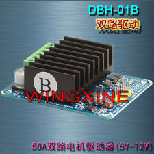 50A Dual-channel H bridge Motor Driver Module for Robot Chassis Servo